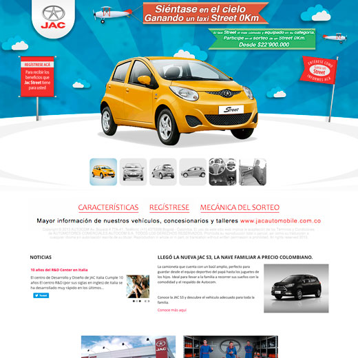 Website JAC Motors Colombia